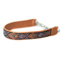 Tan ribbon martingale collar