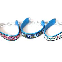 Size XXS martingale leather collars for puppies