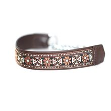 Brown martingale collar - wide
