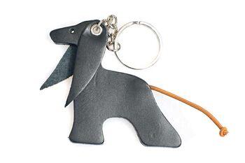 Black Afghan hound key ring