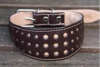 Elegant Brown Orchid collar