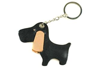 Brown cute dog key ring / bag charm