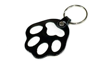 Black dog paw key ring / bag charm