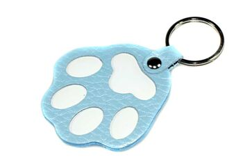 Blue dog paw key ring / bag charm