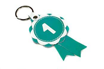 Turquoise show rosette key ring