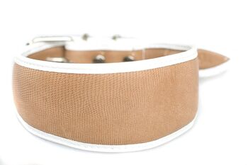 Animal print - Beige snake hound collar