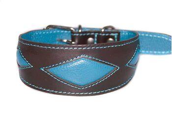 Turquoise rhombi sighthound collar