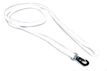 White nappa leather stitched dog show lead